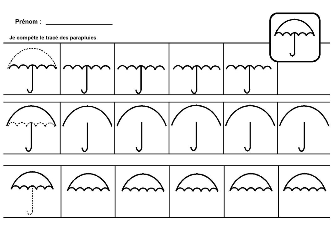 Célèbre calligraphie coccinelle et parapluie | École des Sens et autisme AT96